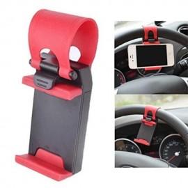 image of Universal Car Steering Wheel Mobile Phone Mount Socket Holder For Phone