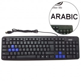 image of Tinytech Arabic Standard 107 Key Computer Keyboard Model KB-TY912/A
