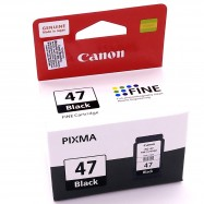 image of Official Canon PG-47 Ink Cartridge (Black) 15ML For E400/E410/E460/E470/E480