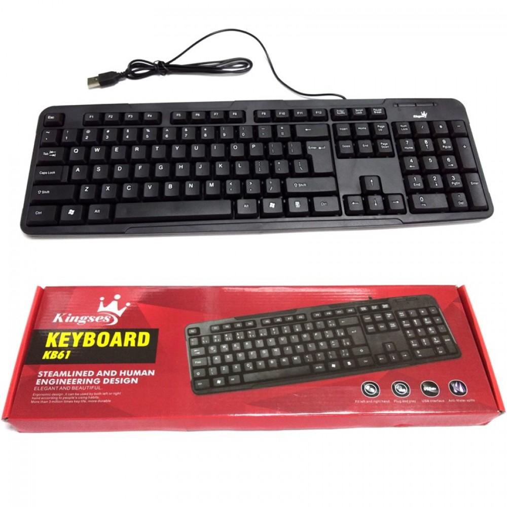 Kingses KB61 Steamlined and Human Engineering Design Usb Keyboard