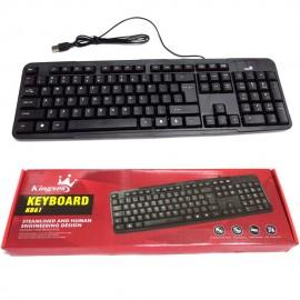 image of Kingses KB61 Steamlined and Human Engineering Design Usb Keyboard
