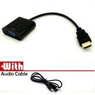 image of 100% working 1080P HDMI to VGA Video Converter Adapter Cable With Audio Support