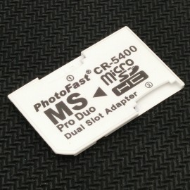 image of Dual Slot Micro SD to Memory Stick MS Pro Duo PSP Card Adapter Converter(T12-9)