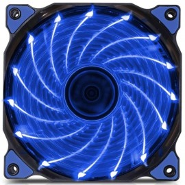 image of Shockproof DC 12V 3-4PIN Computer Case Cooling 12cm 15 Led Blue Fan