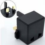 Euro/US 2 Pin To 3 pin UK Traveller Conversion Plug Adaptor For Malaysia (Z7-2)