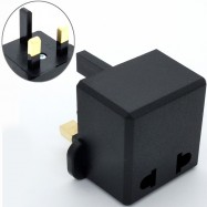 image of Euro/US 2 Pin To 3 pin UK Traveller Conversion Plug Adaptor For Malaysia (Z7-2)