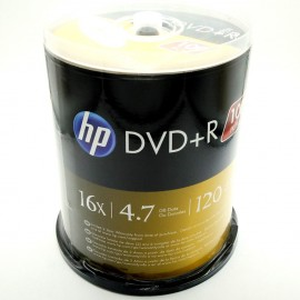 image of Official HP DVD+R 4.7Gb 120Min 1~16X 100pcs Pack With Box