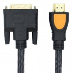1080P HD 1.5M HDMI Male To DVI Male DVI-D 24+1 Pin Cable Double Magnetic Ring