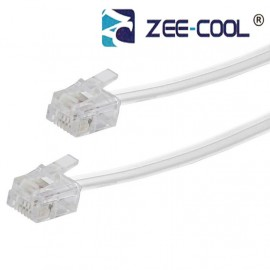 image of Official Zee-Cool 1~20M Telephone Line Cable 6P4C RJ11 DSL Modem Fax