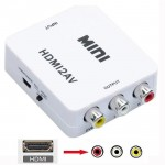 HDMI to AV Converter Composite 1080p HDMI to 3 RCA Audio Video AV CVBS Adapter