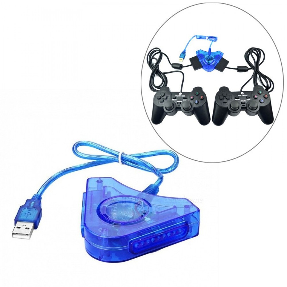PS2 Controller to PC USB Converter for 2 Players (C2-2)