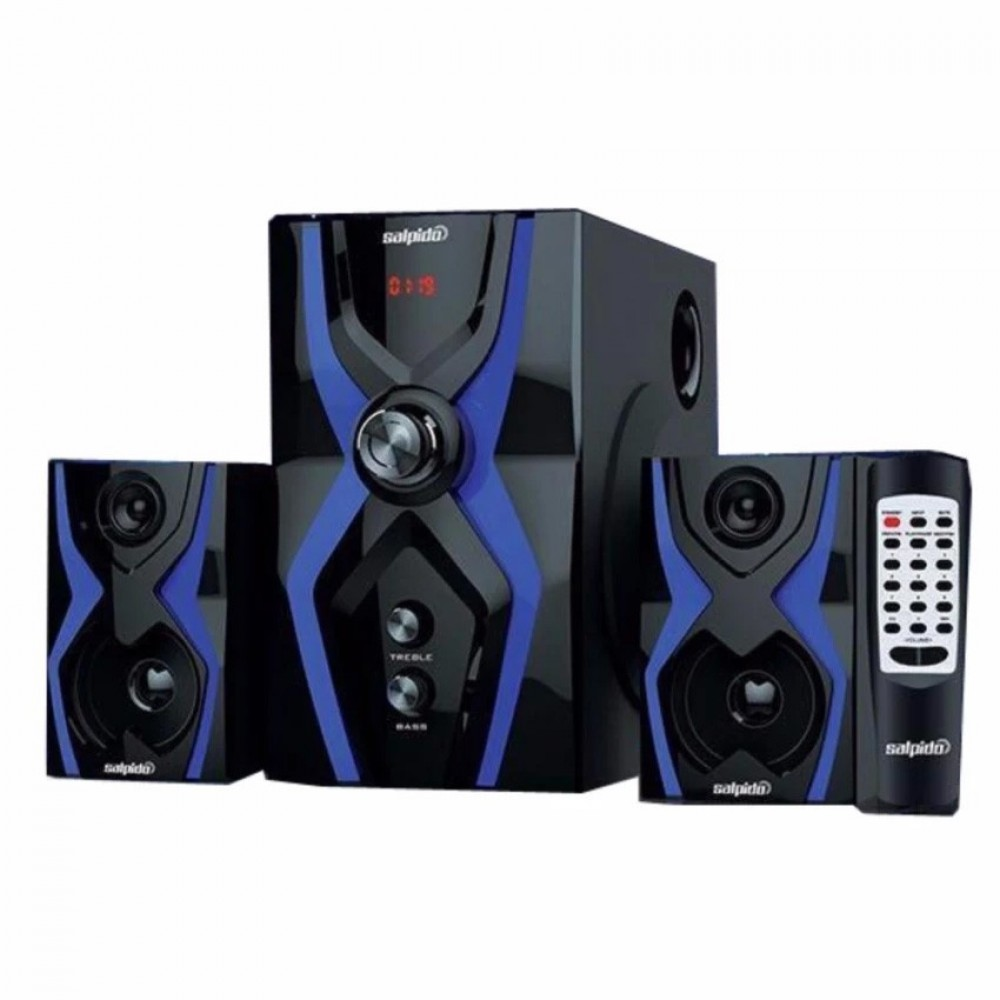 Official Salpido The Ultimate G3x Super Bass 21 High Quality Speaker Bluetooth Leather Black Perak