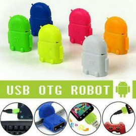 image of 100% Working Android Robot Micro USB OTG Adapter