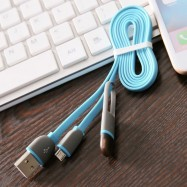 image of Micro USB Cable & 8Pin 2 in 1 Sync Data Charger for iPhone / Andrion