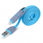 Micro USB Cable & 8Pin 2 in 1 Sync Data Charger for iPhone / Andrion
