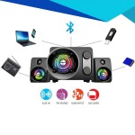 Official Sonic Gear Titan 7 Pro BTMI Bluetooth LED Multimedia Speaker Ultra Bass