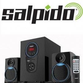 image of Salpido Caproni 2X Blue 2.1 Speakers with Bluetooth,FM Radio,SDSlot,USB Slot,Aux