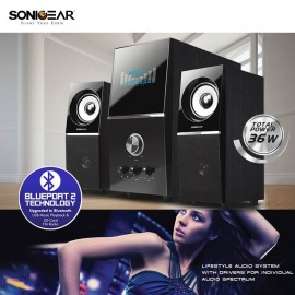 image of Official Sonic Gear Evo 5 Pro 2.1 Channel PC Speakers 2.1 New Model