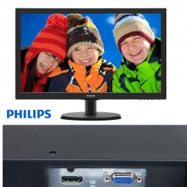 image of Official Philips 223V5LHSB2 21.5in LED VGA/ HDMI (16:9) 1920x1080
