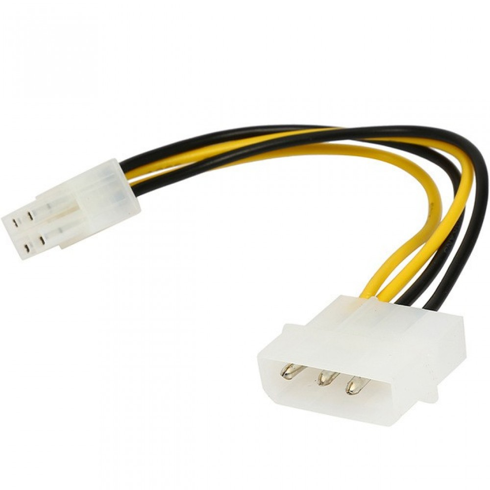 4 pin IDE Molex to Motherboard 4-Pin P4 CPU Power Adapter Converter Cable(T14-9)