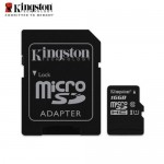 Official Kingston 16GB microSDHC Class 10 UHS-I 80MB/s Read Card with SD Adapte