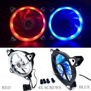 image of X6 25DB 2100RPM 12V 3-4PIN 12cm Cooling Fan Ring LED (G1)