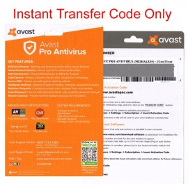 image of Official Avast Pro Antivirus 2018 Instant Transfer Code Only