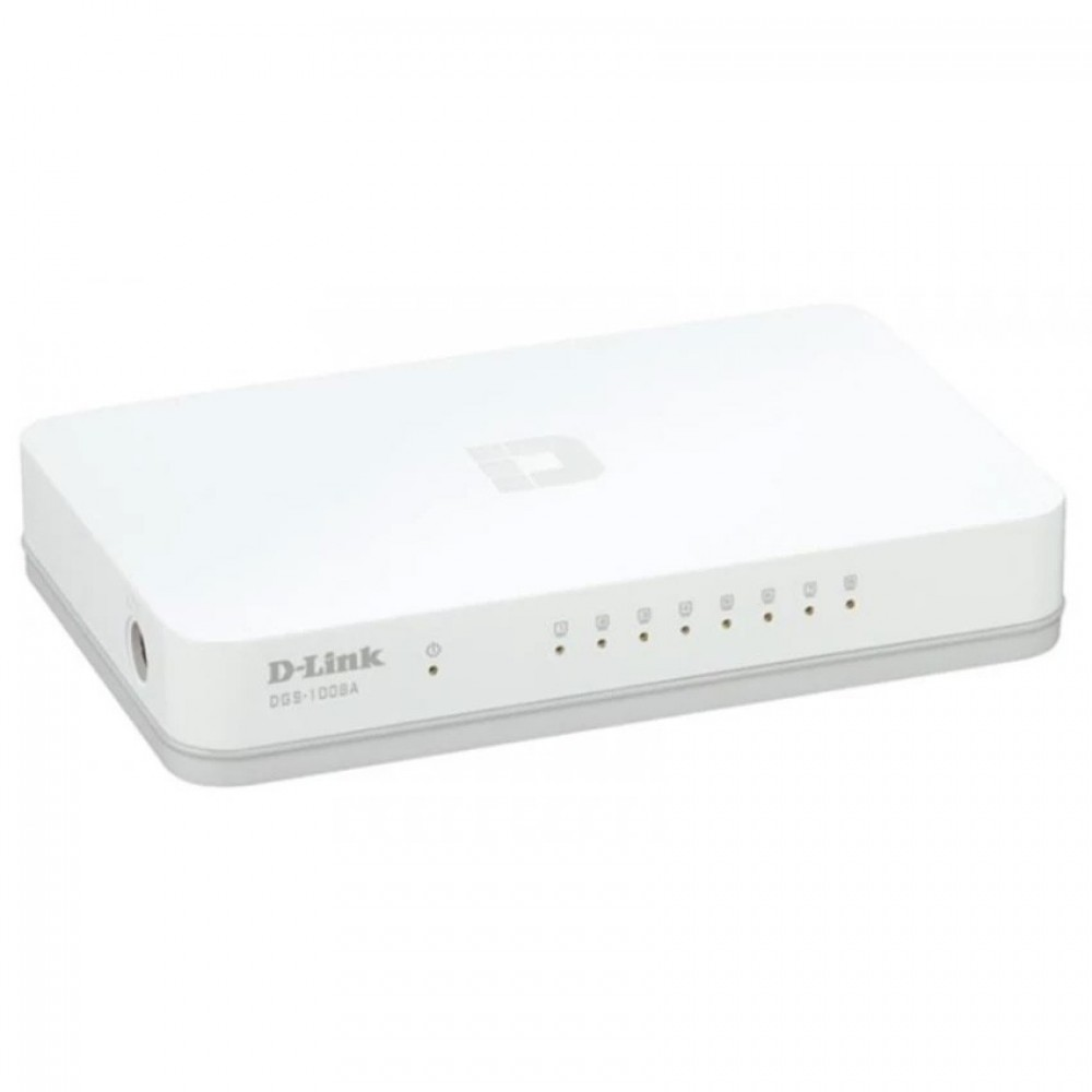 Official D-LINK 8 Port 10/100/1000Mbps Gigabit Desktop Switch DGS-1008A