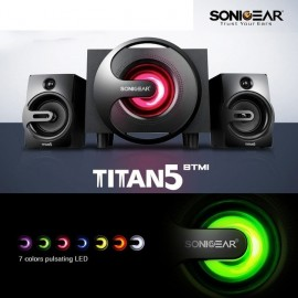 image of Official Sonic Gear Titan 5 BTMI Bluetooth Multimedia Speaker 7Pulsating LED