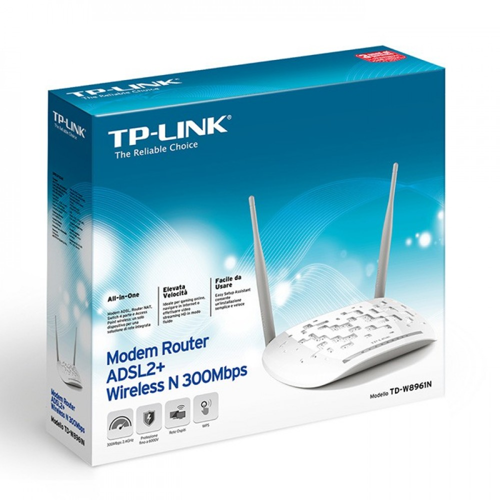 Official TP-Link TD-W8961N 300Mbps Wireless N ADSL2+ Modem Router