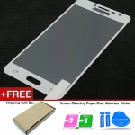 Samsung Galaxy J2 Prime White Tempered Glass Full Screen Protector
