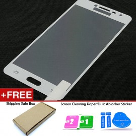 image of Samsung Galaxy J2 Prime White Tempered Glass Full Screen Protector