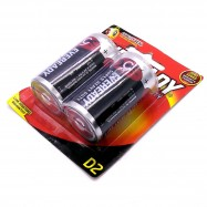 image of Official Eveready Super Heavy Duty R20 1.5v 2Pack D Size Battery