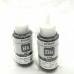 2Pcs Original Epson T6641 Refil Ink Bottle 70ml Without Packing Box (Black)