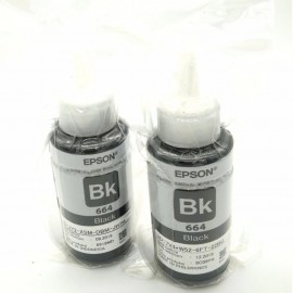 image of 2Pcs Original Epson T6641 Refil Ink Bottle 70ml Without Packing Box (Black)
