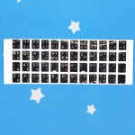 Thai Sticker For PC / Laptop Keyboard Color Black & Fonts White (T12-7)