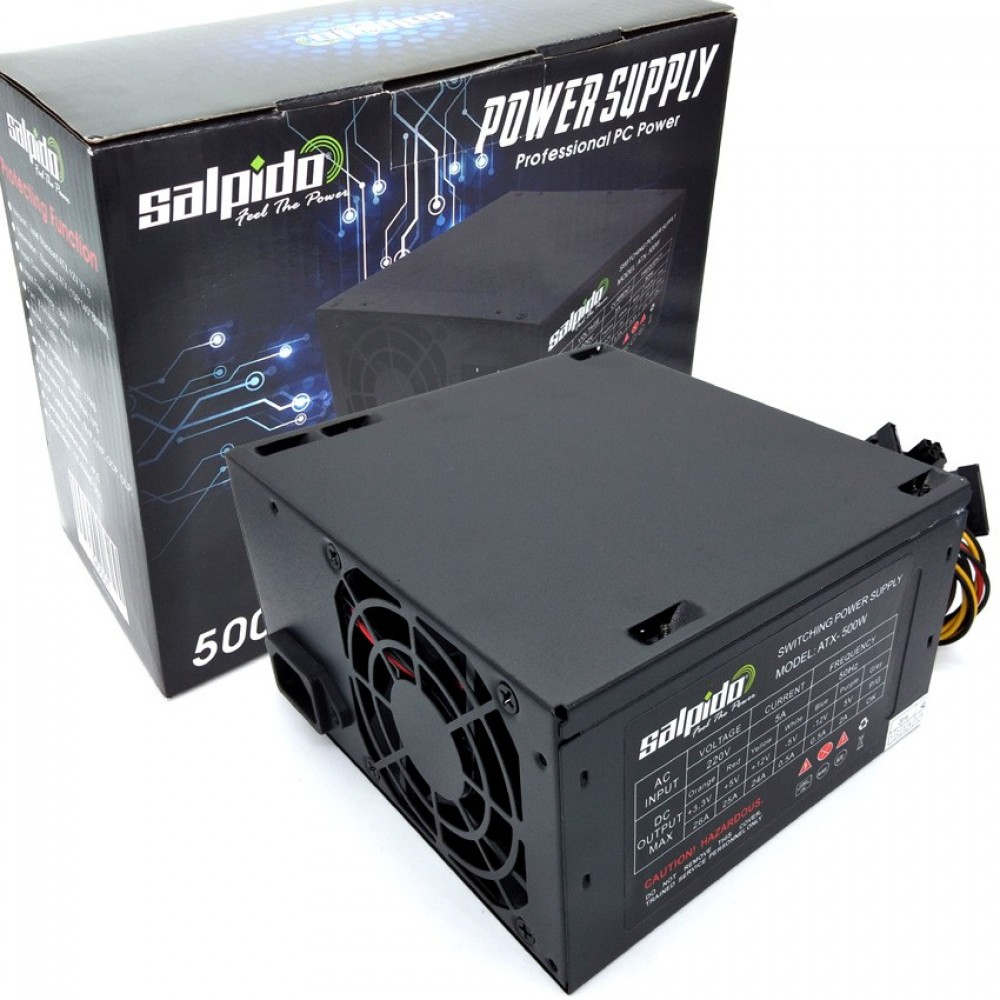 Salpido Professional Power Supply Atx 500W For Desktop PC