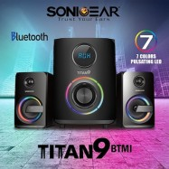image of Official New Sonic Gear Titan 9 BTMI 7 Color Pulsating LED Multimedia Speaker