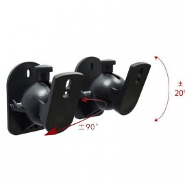 image of 1Box/2Pcs Universal Adjustable Surround Sound Wall Speaker Mount Bracket