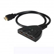 image of 3 Port HDMI AUTO 1080P Switch Splitter Switcher HUB Box Cable LCD HDTV UK