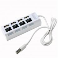 image of USB 2.0 Hub 4 Port with On/Off Switch Support External 500GB Hdd