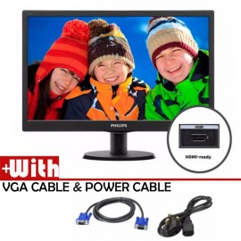 """image of Official Philips 18.5"""" 193V5LHSB2 HD LED Monitor With VGA And HDMI Port"""