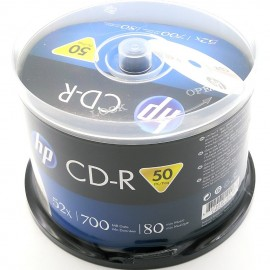 image of 50Pcs Official HP CD-R 700MB 80Min 52X With Box