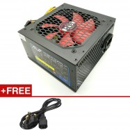 image of Official AVF 550W Power Supply with 12CM Big Fan (Black)