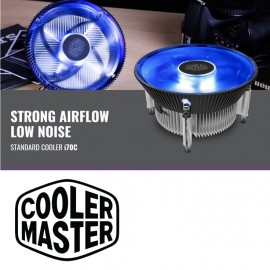 image of Cooler Master i70C CPU Cooler Blue LED Fan For Intel Socket 1156/1155/1151 /1150
