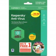 image of Kaspersky Anti Virus 2018 (Buy 1 Free 1) 1Device.1Year Extra Free 1Device 1Year
