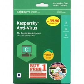 image of Kaspersky Anti Virus 2018 (Buy 1 Free 1) 1Device.1Year Extra Free 1Device 1Year