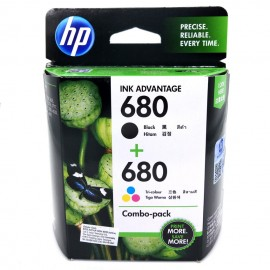 image of Official HP 680 Combo Pack (Black+Tri-Color) Ink Advantage Cartridges