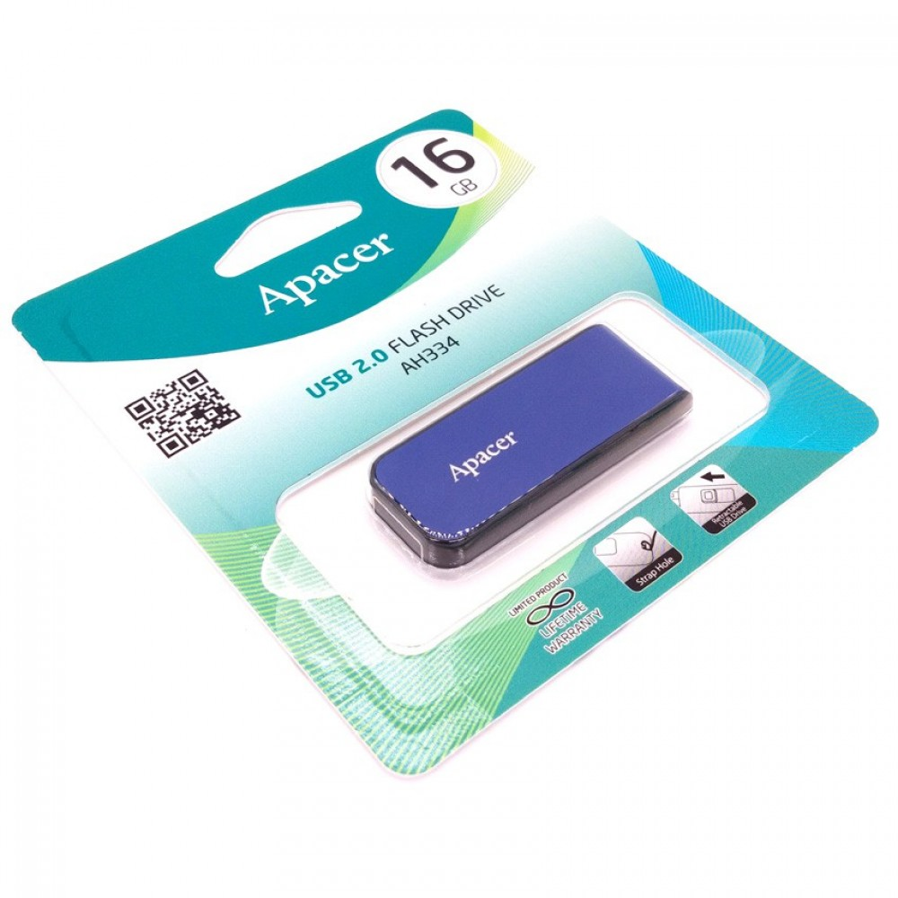 Official Apacer 16GB AH334 USB 2.0 Flash Drive Color Starry Blue