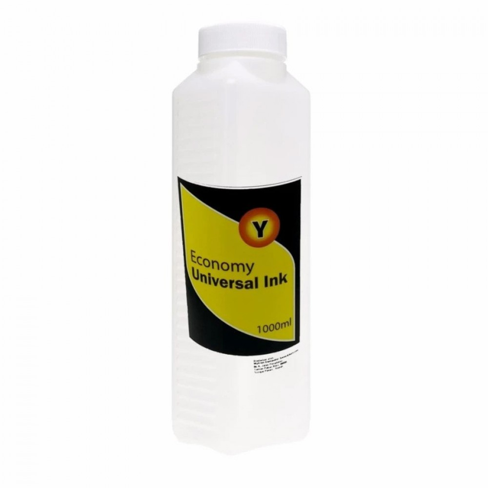 Economy Universal Refil Ink 1000ml Yellow For Canon Inkjet Printer